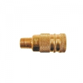"Brass 1/4"" Male Body Coupler (3/8"")"