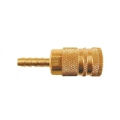 "Brass 1/4"" Hose Barb Body Coupler (3/8"")"