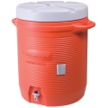 Insulated Beverage Container, Orange 10 Gallon