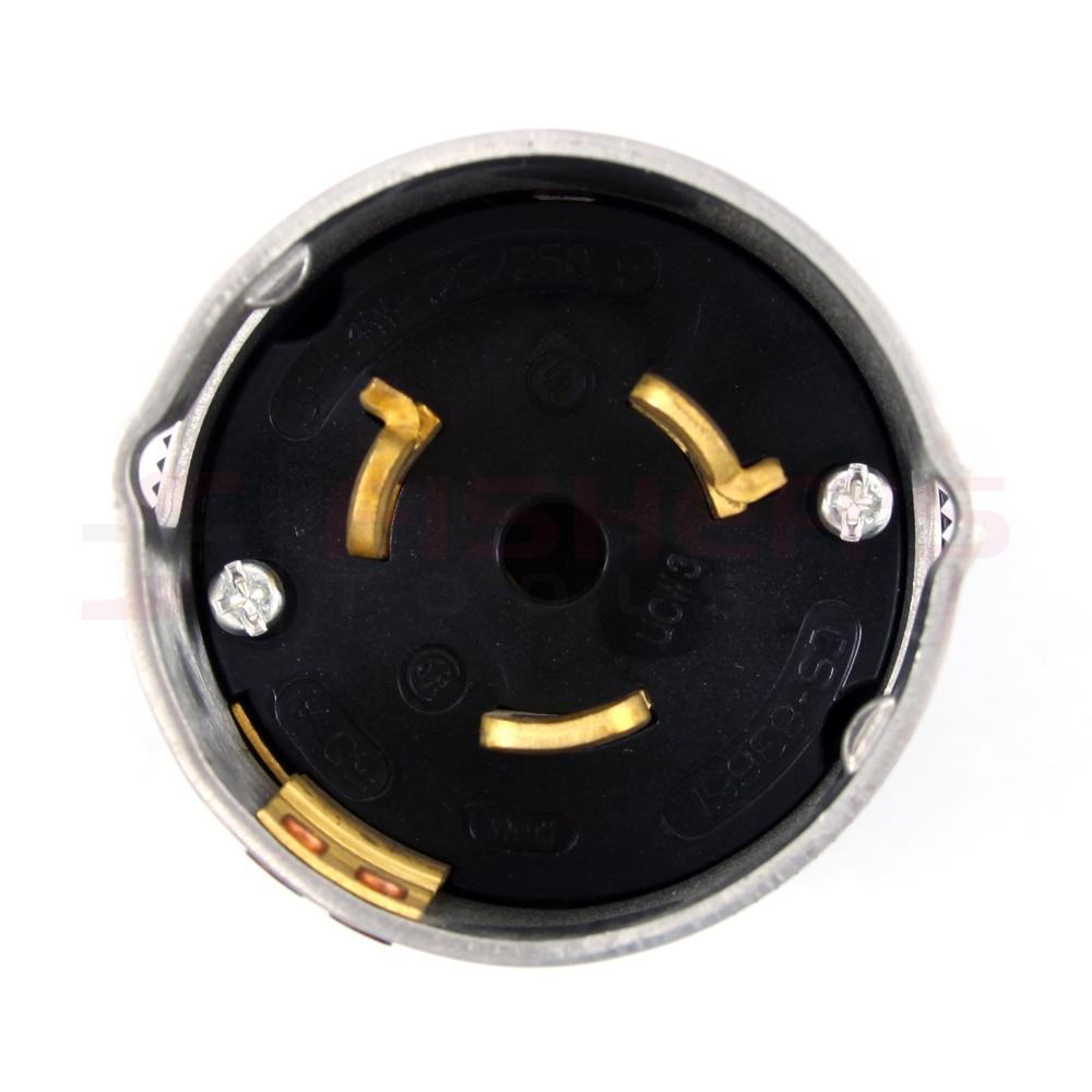 Hubbell Cs6365l Twist  Plug 50 Amp  125