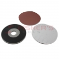 "H&L 2 Piece Paper Drywall Pad Kits with 5 Abrasive Discs - 9"" (100G)"