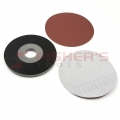 "H&L 2 Piece Paper Drywall Pad Kits with 5 Abrasive Discs - 9"" (120G)"