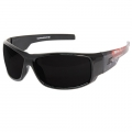 Caraz Patriot Smoke Lens Safety Glasses (Black)