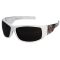 Caraz Vigilante Smoke Lens Safety Glasses (White & Grey)