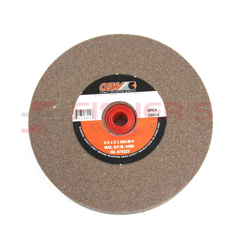 CGW 6 x 3//4 X 1 Fast Cut Aluminum Oxide 4456 R.P.M. Bench /& Pedestal Type-1 Grinding Wheel Grit-60
