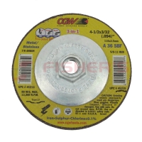 "3-in-1 Cut Grind Finish Type 27 Wheel - 4-1/2"" (5/8""-11 Arbor)"