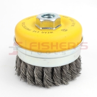 "High Performance Carbon Knot Steel Cup Brush (4"")"