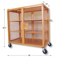 Heavy Duty Wire Mesh Cage Storage Chest with 4 Shelves (1,5000 lbs Capacity)