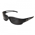 Kazbek XL Polarized Safety Glasses Black frame with Smoke Lens