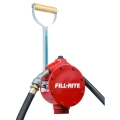 Piston Hand Pump with Steel Telescoping Tube, Hose and Nozzle Spout