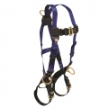 Contractor Full Body Harness with 3 D-Rings and Tongue Buckle Leg Straps (Universal Fit)