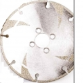 "Electroplated Marble Diamond Blade 5"" with 4 Flush Holes"