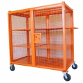 Heavy Duty Wire Mesh Cage with 4 Shelves (1500lb Capacity)