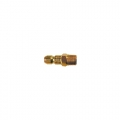 "Brass 3/8"" Male Body Connector (1/4"")"