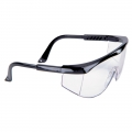 Clear Safety Glasses (Black)