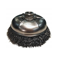 "Crimped Wire Cup Brush 3"" with 5/8""-11 Arbor"