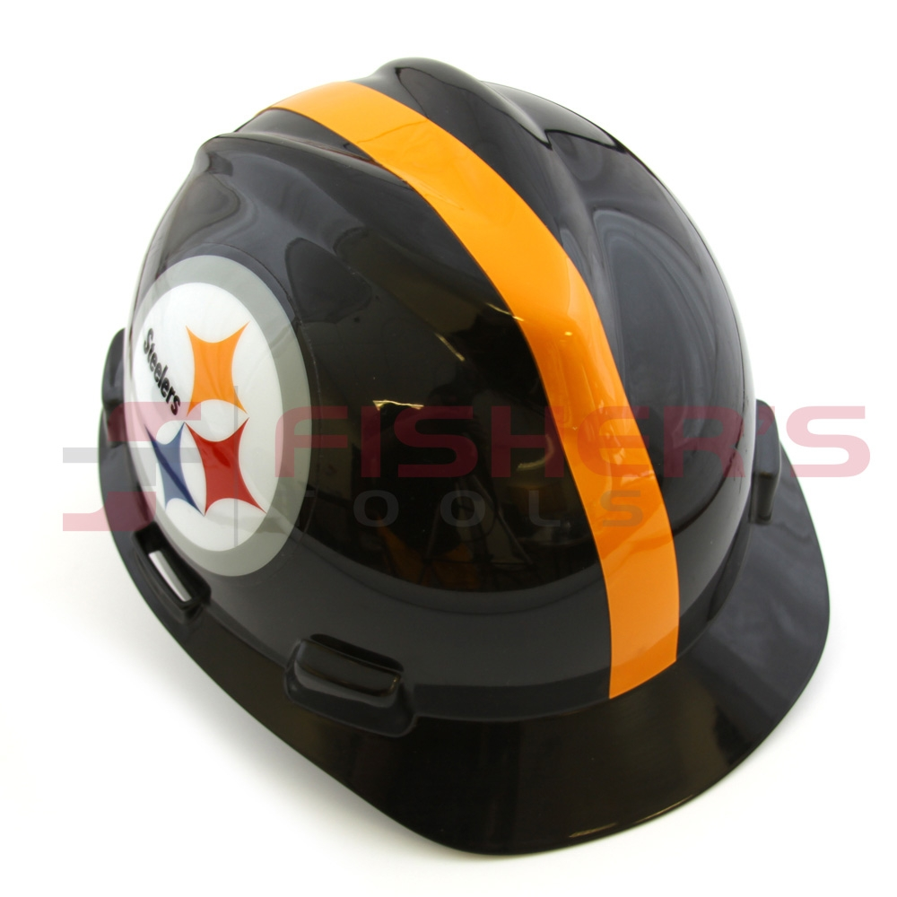968fe9b739e MSA 818407 Standard V-Gard NFL Cap w 1-Touch Suspension (Steelers ...