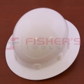 Full Brim Hard Hat with Ratchet Suspension (White)