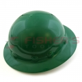 Full Brim Hard Hat with Ratchet Suspension (Green)