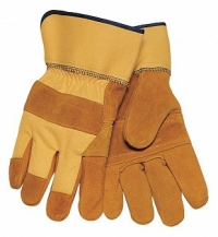 Work Gloves With Patched Palms (Large)
