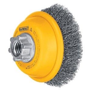 DEWALT DW49102 6-Inch by 5//8-Inch-11 HP .014 Carbon Crimp Wire Cup Brush