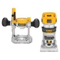 1.25HP Max Torque Variable Speed Compact Router Combo Kit with LED's