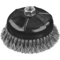 "Extended Performance .020 Stainless Knot Wire Cup Brush 3"" x 5/8""-11"