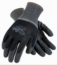 G-Tek Air Force Black Air-Infused PVC Coated Nylon Gloves Large