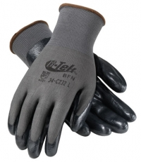G-Tek Value & Performance Gloves with Foam Nitrile Coated Palm and Finger Tips Large