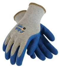 G-Tek Force T/C Liner with Blue Latex Crinkle Finish Coated Gloves Large