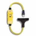 Shockshield GFCI Protected Right Angle Plug Tri-Cord