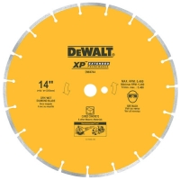 Segmented Diamond Saw Blade with 1-inch Arbor for Cured Concrete 14""