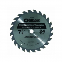 24-Tooth Carbide Blade Circular Saw 7-1/4""